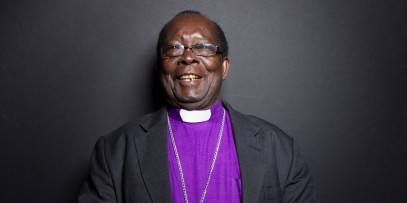 """Bishop Christopher Senyonjo from the film """"God Loves Uganda"""" poses for a portrait during the 2013 Sundance Film Festival on Sunday, Jan. 20, 2013 in Park City, Utah. (Photo by Victoria Will/Invision/AP Images)"""