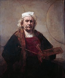 Self Portrait with two circles.*oil on canvas.*114,3 x 94 cm.*1665 - 1669