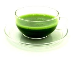 Matcha in glass cup